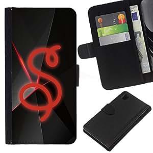 EJOY---La carpeta del tirón la caja de cuero de alta calidad de la PU Caso protector / Sony Xperia Z1 L39 / --S