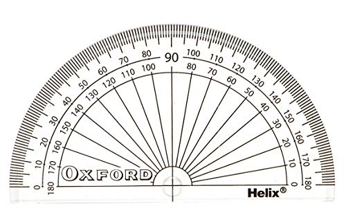 helix oxford 10cm 180 degree protractor amazon co uk office products Focal Car Audio