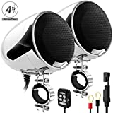 GoHawk AN4-X 600W 2 Channel All-in-One Amplifier 4.5'' Full Range Waterproof Bluetooth Motorcycle Stereo Speakers Audio Amp System w/ AUX for 1-1.5'' Handlebar Harley Cruiser Can-Am ATV UTV RZR Polaris