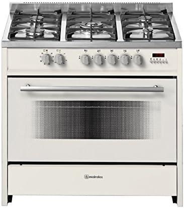 Meireles EV8 90 SP CR-D - Cocina de gas con 5 quemadores y ...