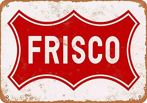 F-More Metal Holiday Signs 8 x 12 Metal Sign - Frisco Railroad - Vintage Look Reproduction Home Decor Shops Near Me (Decor Home Shops Me Near)
