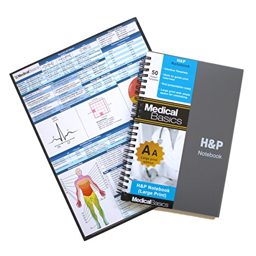 - H&P Notebook (Large Print) - Medical History and Physical Notebook, 50 Medical templates with Perforations