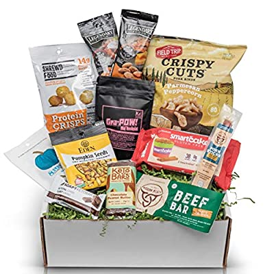 Low Carb KETO Snacks Sampler Box: Assortment of Low Sugar High Fat Ketogenic Diet Snacks Keto Gift Care Package