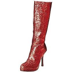 Ellie Shoes Women's 421-Zara Boot, Red, 8 M US