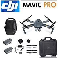 DJI Mavic PRO Fly More Combo Foldable Quadcopter with Remote, 1 inch 20MP Camera Professional Drone, Including 2 Extra Battery, Car Charger, Charging Hub, ABS Carrying Case