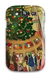 Galaxy S3 Christmas Print High Quality Tpu Gel Frame Case Cover