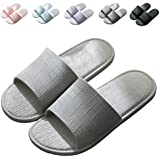 Finleoo Women and Men Bath Slipper Anti-Slip for Indoor Home House SandalSL15,Grey,44.45