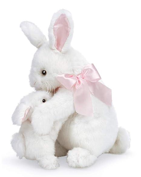 ed881652106 Amazon.com  Bearington Some Bunny Loves You White Plush Stuffed ...