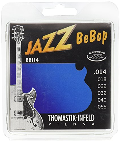 Dr Thomastik BB114 Jazz Guitar Strings: Jazz Bebop Series 6 String Set - Pure Nickel Round Wounds E, B, G, D, A, E Set