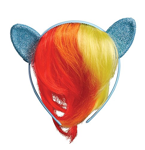 Rainbow Dash Child Movie Headpiece with Hair -