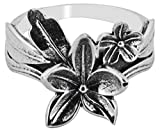 M/s Gajraj 925 Sterling Silver Floral Ring for Women, US-9