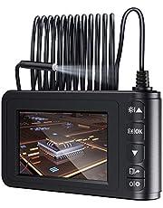 MoKo Industrial Endoscope Borescope Inspection Camera, 5M 1080P Full HD 4.3inch LCD Digital Semi-Rigid Snake Tube Waterproof Video Recording Handhold Camera with 1700mAh Battery 1.6-198inch Focus