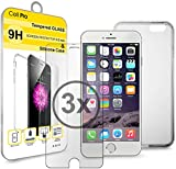 iPhone 6 6S Screen Protector 3 Pack and 1 Silicone Case Perfect Bundle for Apple iPhone 6 and iPhone 6 S