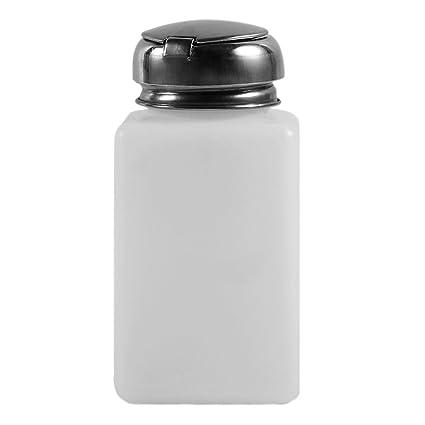 Botella de prensa de alcohol líquido para eliminar esmaltes de uñas, dispensador de bomba,
