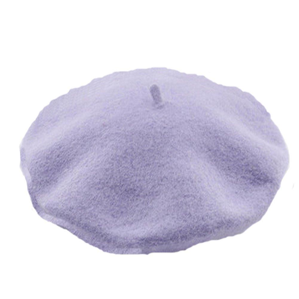 Amazon.com  PANDA SUPERSTORE Noble Fashion Winter Wool Hat Women Lilac  Purple(Size Free)  Kitchen   Dining 6becb06ca66