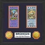 NFL Denver Broncos SB Championship Ticket Collection Frame