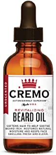 product image for Cremo Beard Oil, Unscented, 1 Ounce- Restores Moisture, Softens and Reduces Beard Itch for All Lengths of Facial Hair