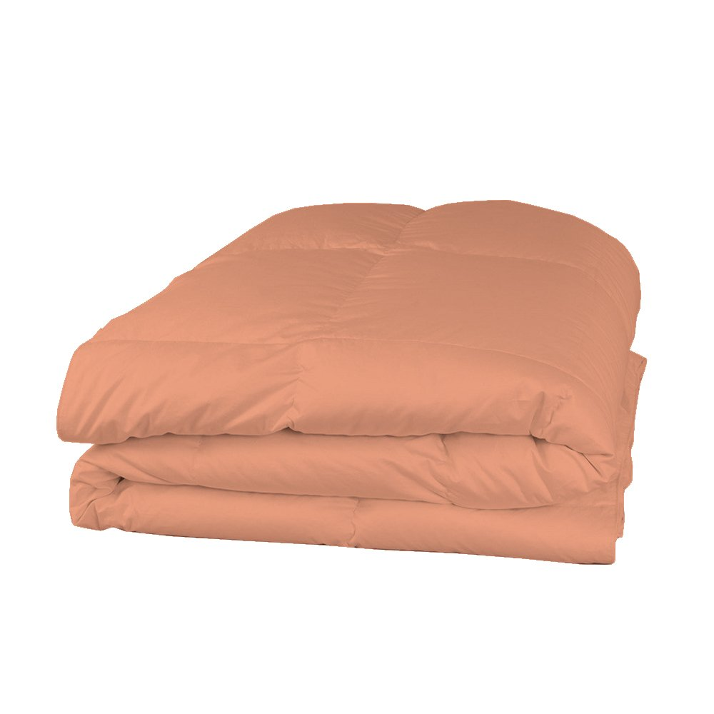 Relaxare Queen XL 400TC 100% Egyptian Cotton Peach Solid 1PCs Comforter Solid- Ultra Soft Breathable Premium Fabric by Relaxare