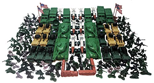 (350 Pieces Army Set with Tanks Jeeps Trucks Missiles Soldiers)
