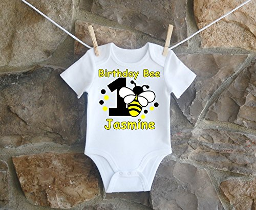 Bumblebee 1st And 2nd Birthday Shirt For Girl, Bumblebee 1st Birthday Shirt For Girls, Bumblebee 2nd Birthday Shirt For Girls by Lil Lady Treasures