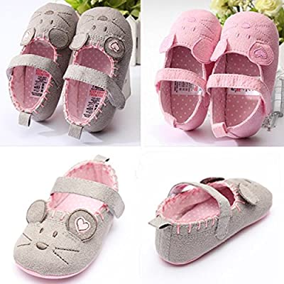 Baby Girl Infant Toddler Little Mouse Soft Sole Crib Princess Shoes