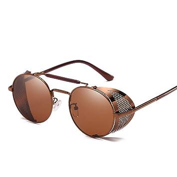 828546a175 TOOMD Gafas de Sol Ultra Steampunk, Gafas Redondas de los años 50 con  protección UV400