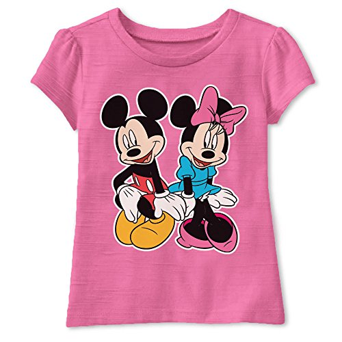 Disney Toddler Girls' Minnie Mouse T-Shirt, Bubble Gum, 5T