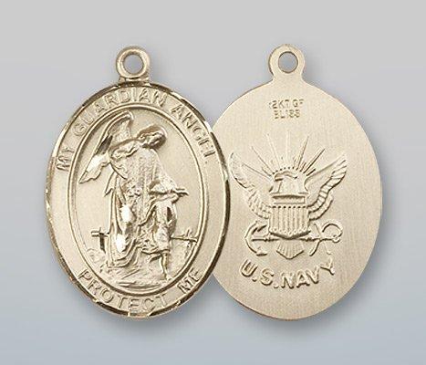 14kt Gold Guardian Angel / Navy Medal (Medal Navy Angel)