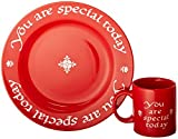 Waechtersbach You are Special Today Plate and Mug Set, Red