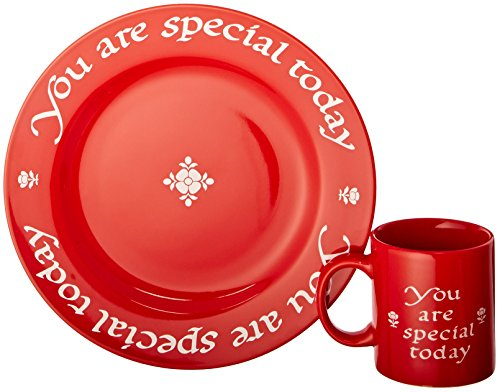 (Waechtersbach You are Special Today Plate and Mug Set, Red)