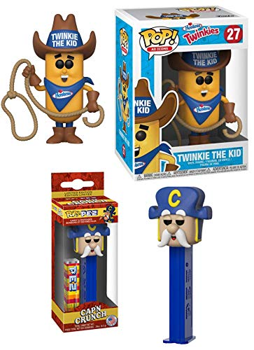 Funko Cereal Pop! Head Captain Crunch Character Pez Head Bundled with Ad Icons #27 Twinkie The Kid Vinyl Figure Retro Cap'n Crunch Fun Morning -