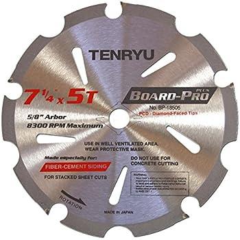"TENRYU BP-25506 Board-Pro Plus Fiber Cement 10"" 6T Saw"