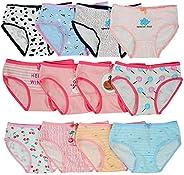Closecret Toddler Soft Cotton Underwear Baby Panties Girls' 12-Pack Assorted Br