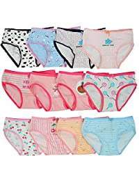 Closecret Toddler Soft Cotton Underwear Baby Panties Girls' 12-Pack Assorted Briefs