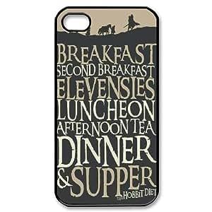 IPhone 4/4s Case the Hobbit Diet the Hobbit Quotes, the Hobbit [Black]