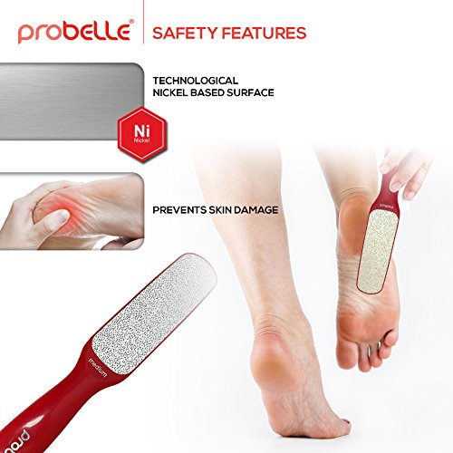 Probelle 2-Sided Hypoallergenic Nickel Foot File for Callus Trimming and Callus Removal, Red, 4 Ounce by Probelle (Image #6)