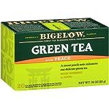 Bigelow Green Tea with Peach 20 Bags (Pack of 6), Premium Bagged Green Tea Flavored with Peach, Antioxidant-Rich All Natural Medium-Caffeine Tea in Individual Foil-Wrapped Bags