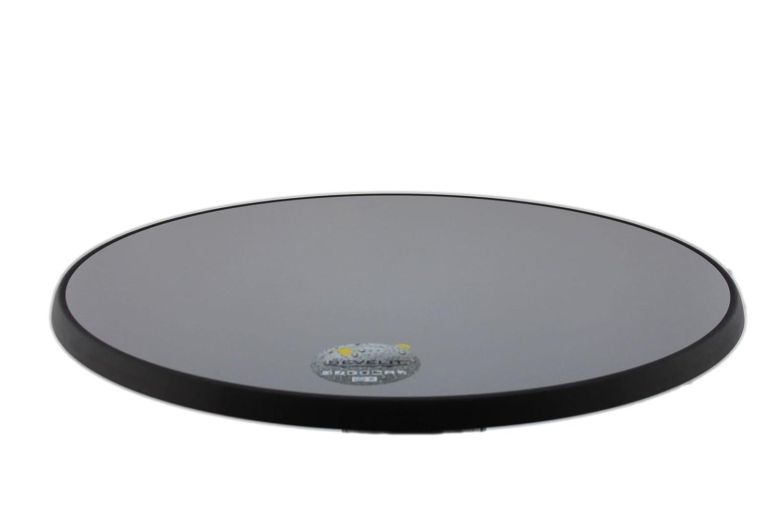 Sevelit Tischplatte Silber-Metall gebürstet, rund, 700mm Durchmesser, Wetterfest, schlagfeste Tischkante, Tischplatten ideal ALS Ersatzteil und zum Nachrüsten
