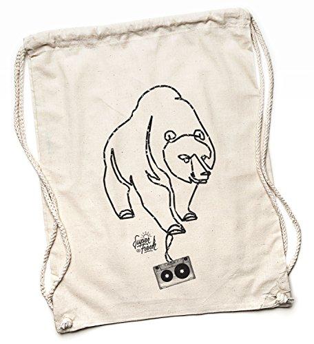 Kane Grey Jutebeutel - Bolso mochila  para mujer Beige naturaleza One size