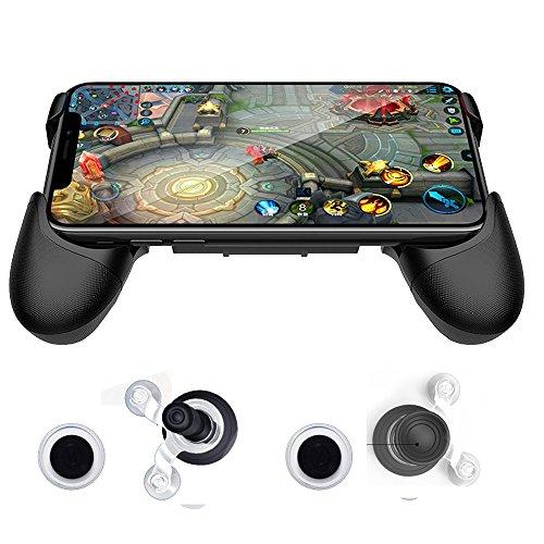 SUNCHI Universal Mobile Game Joystick Spiral Mini Joystick Game Handle Grip Controller Rocker Joypad Foldable Stand Holder for Cellphones (Handle Holder with Joystick) (Earphones 5 Gta)