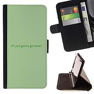 BullDog Case - FOR/HTC DESIRE 816 / - / green message moss text inspiring /- Monedero de cuero de la PU Llevar cubierta de la caja con el ID Credit Card Slots Flip funda de cuer