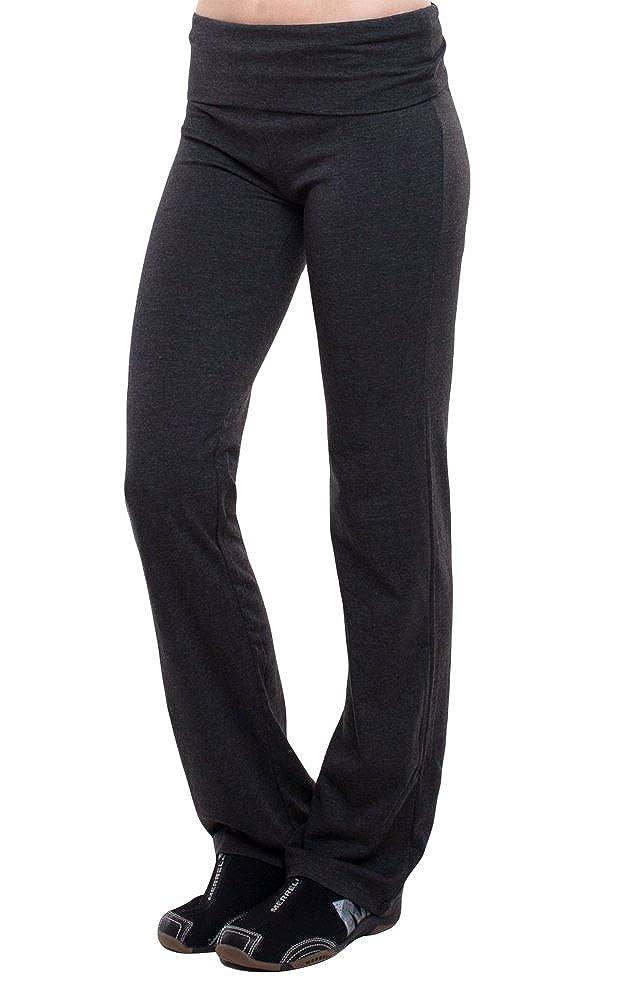ecc5c059e267f Amazon.com: T-Party Fold-Over Waist Yoga Pants, Charcoal: Clothing