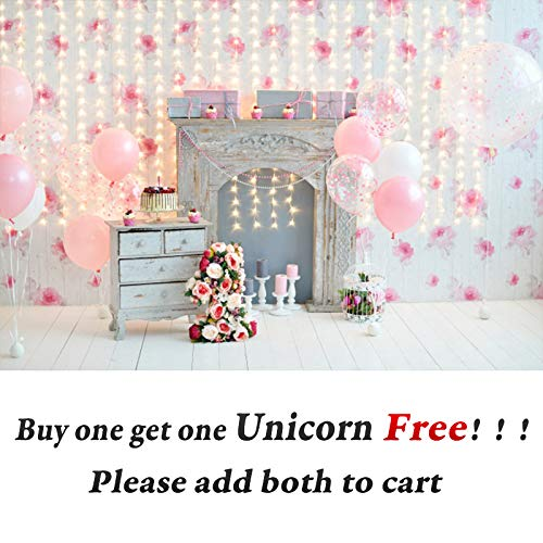 OFILA Baby Girl 1st Birthday Photo Shoot Backdrop 7x5ft Girls First Birthday Party Decoration Baby Girls 1st Birthday Backdrop 1st Cake Smash Portraits  Photography Background Colored Balloons Props ()