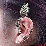 Fusicase New Punk Style Crystal Retro Resins Dragon Earrings