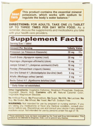 Sundown Naturals Natural Water Pills Herbal Supplement Tablets, 60 Count Package
