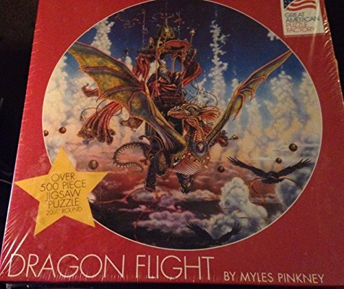 Dragon Flight By Myles Pinkney Over 500 Pieces Circular Jigsaw Puzzle 20.5