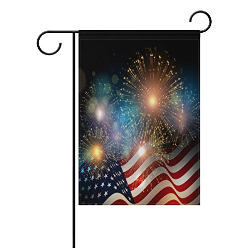 ALAZA Happy Memorial Day Independence Day Garden Yard Flag,
