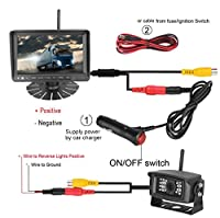 Emmako Backup Camera Digital Wireless and 7'' Display Monitor For Trailer/RV/5th Wheel Reverse Camera System Kit Working Over 300 Foot Stable Signal Waterproof Night Vision Camera Guide Lines Optional by Emmako