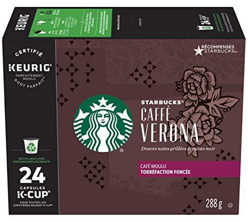 Starbucks Caffè Verona Dark Roast Single Cup Coffee for Keurig Brewers, 1 Box of 24 (24 Total K-Cup pods) ()