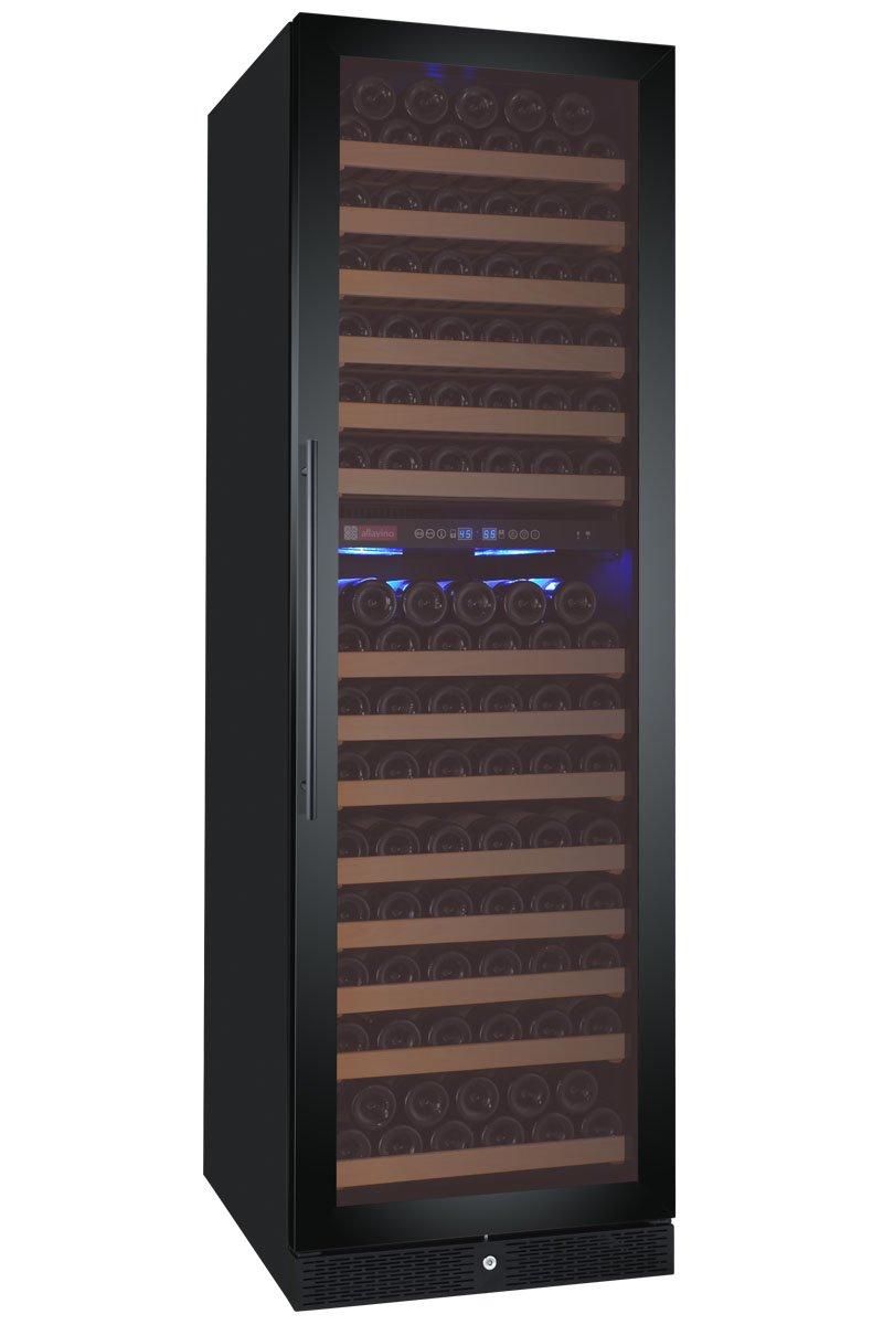 Allavino FlexCount Classic Series 172 Bottle Dual-Zone Wine Refrigerator Right Hinge Black